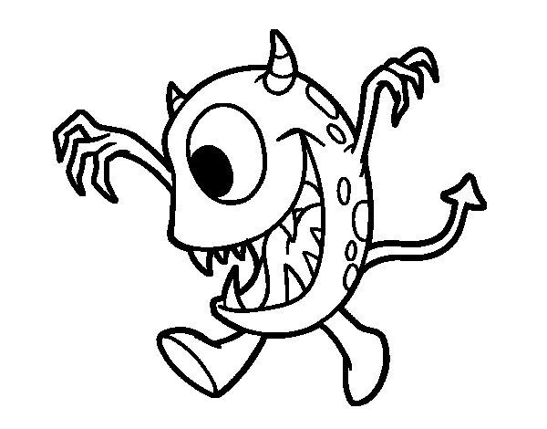 Desenho de Monstro com um olho para Colorir