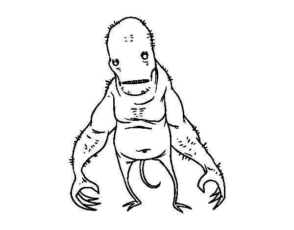 Desenho de Monstro de super feio para Colorir