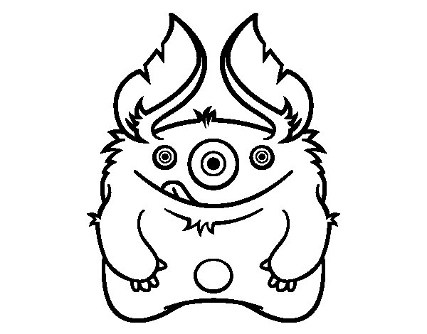 Desenho de Monstro peludo para Colorir