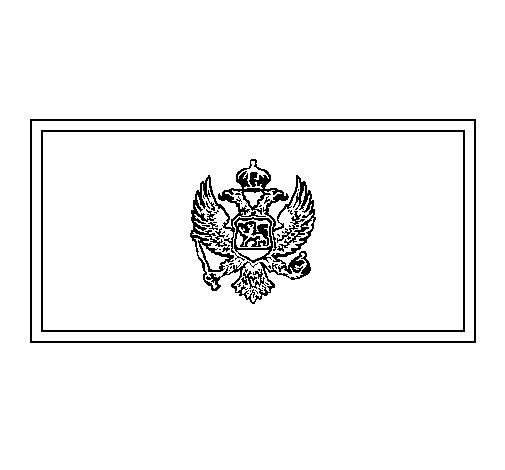 Desenho de Montenegro para Colorir