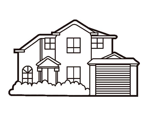 Desenho de moradia para colorir - Imagenes de casas para dibujar ...