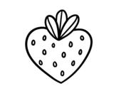 Desenho de Morango coração para colorear