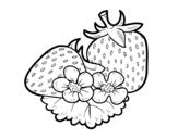 Desenho de Morangos grandes para colorear