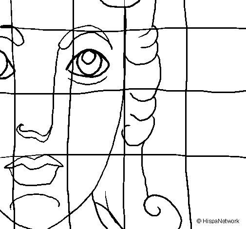 Desenho de Mosaico romano para Colorir