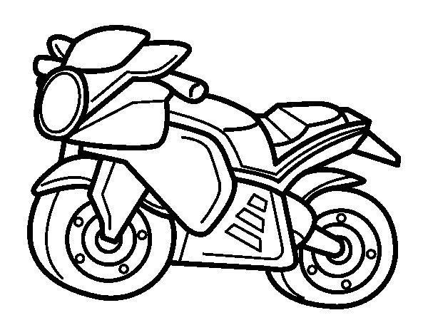Desenho de Moto esportiva para Colorir