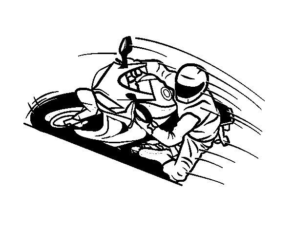 Desenho de Moto GP para Colorir