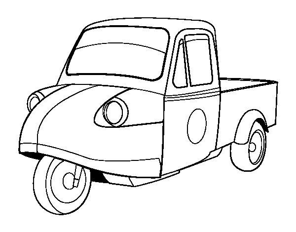 Desenho de Motocicleta camionete para Colorir