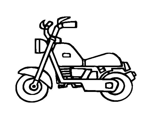 Desenho de Motocicleta harley para Colorir