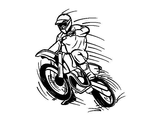 Desenho de Motocross para Colorir