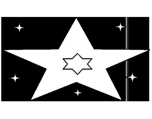 Desenho de Muitas estrelas para Colorir