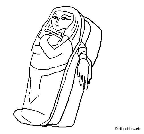 Desenho de Mumia para Colorir