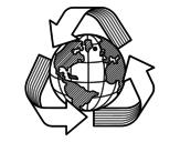 Desenho de Mundo reciclagem para colorear