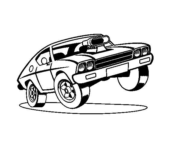 Desenho de Muscle car para Colorir