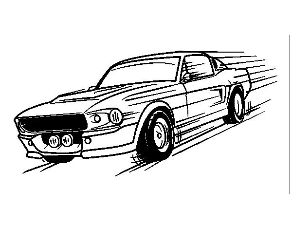 desenho de mustang retr u00f4 para colorir