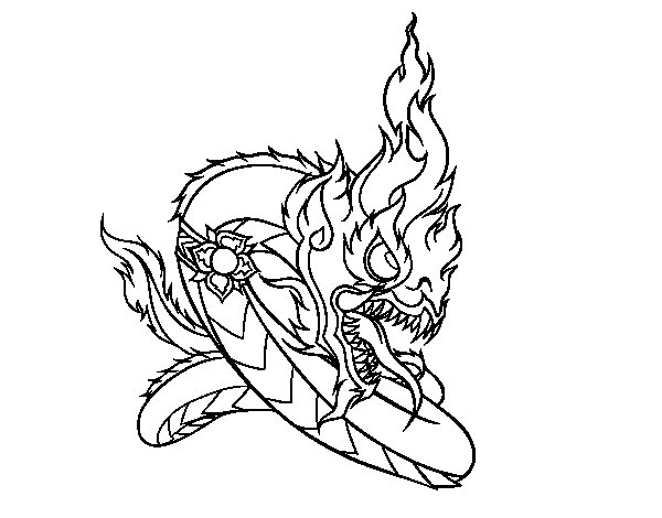 Desenho de Naga para Colorir
