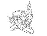 Desenho de Naga para colorear