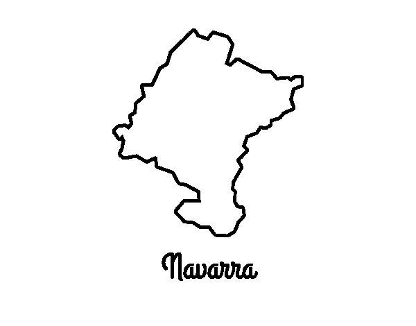 Desenho de Navarra para Colorir