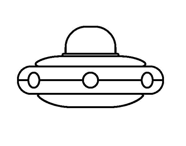 Desenho de  Nave espacial extraterrestre para Colorir