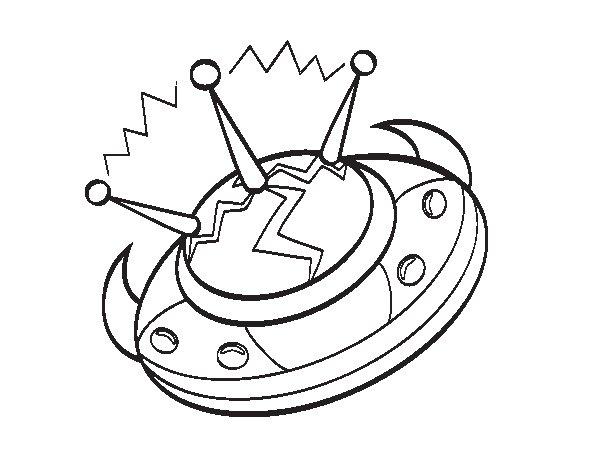 Desenho de Navio alienígena para Colorir