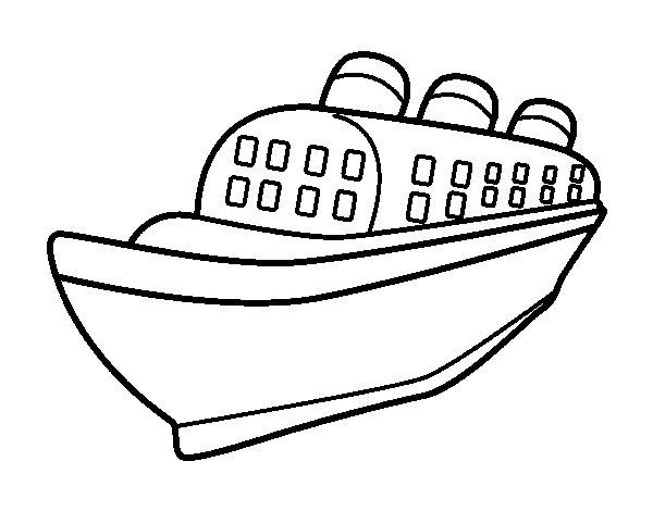 Desenho de Navio transatlântico para Colorir