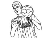 Desenho de Neymar Barça para colorear