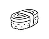 Dibujo de Niguiri de tortilha