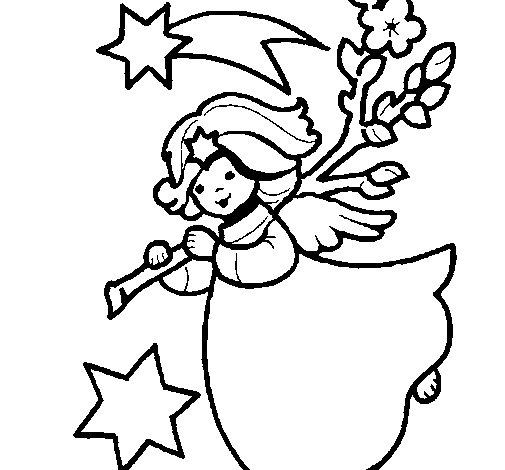Desenho de Ninfa natalícia para Colorir