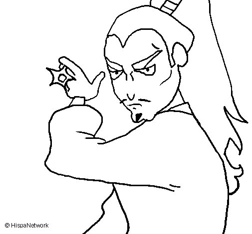 Desenho de Ninja para Colorir