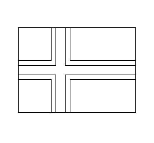 Desenho de Noruega para Colorir