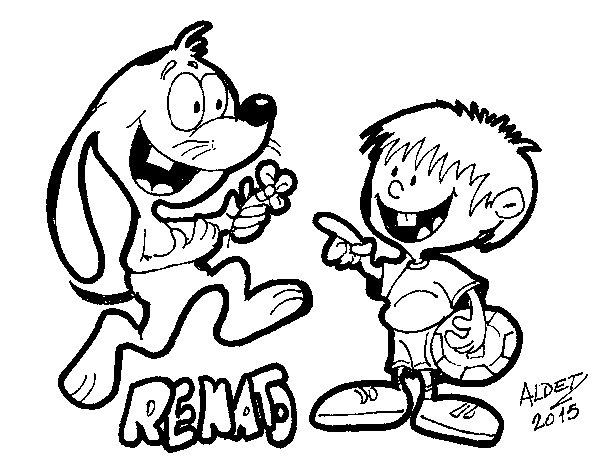 Desenho de O coelho Renato para Colorir