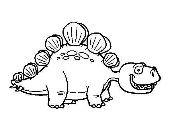 Desenho de O estegossauro para Colorir