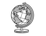 Desenho de O globo terrestre para colorear