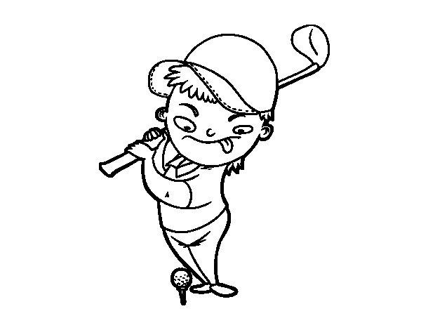Desenho de O golf para Colorir