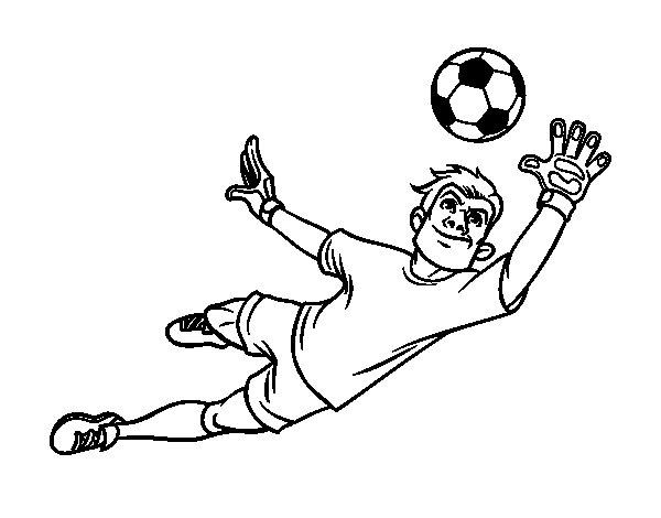 Desenho de O guarda-redes de futebol para Colorir