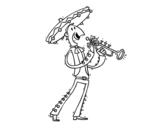 Desenho de O Mariachi para colorear