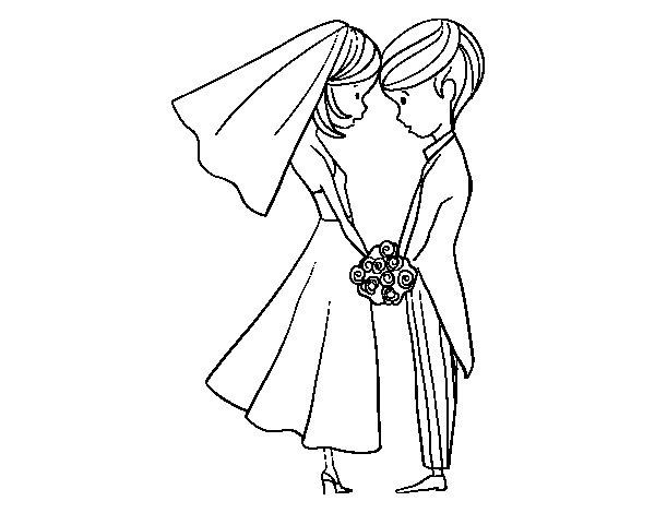 Desenho de  O marido e mulher para Colorir