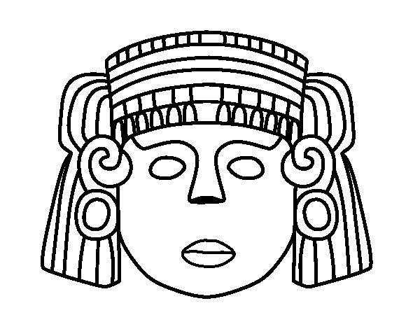 Desenho de O máscara mexicana para Colorir
