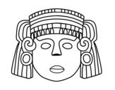 Desenho de O máscara mexicana para colorear