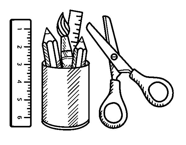 Desenho De Uma Mochila Escolar Para Colorir Desenho De O Material