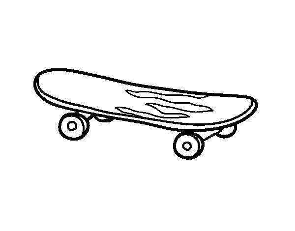 Desenho de O skate para Colorir