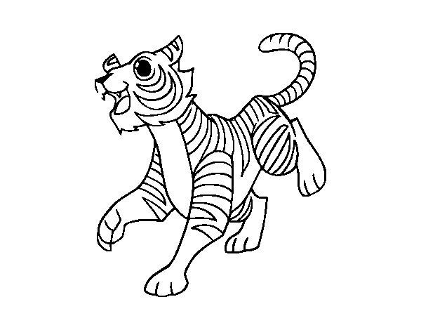 Desenho de O tigre-de-bengala para Colorir
