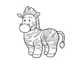 Desenho de O zebra para colorear