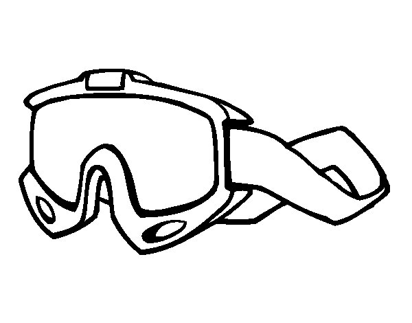 Desenho de Óculos de esqui para Colorir