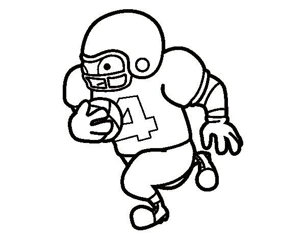 Desenho de Offensive guard para Colorir