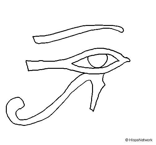 Desenho de Olho de hórus para Colorir