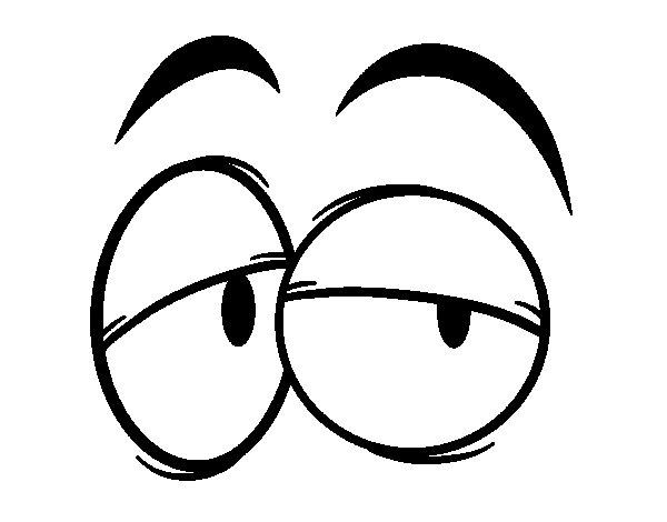 Desenho de Olhos para Colorir