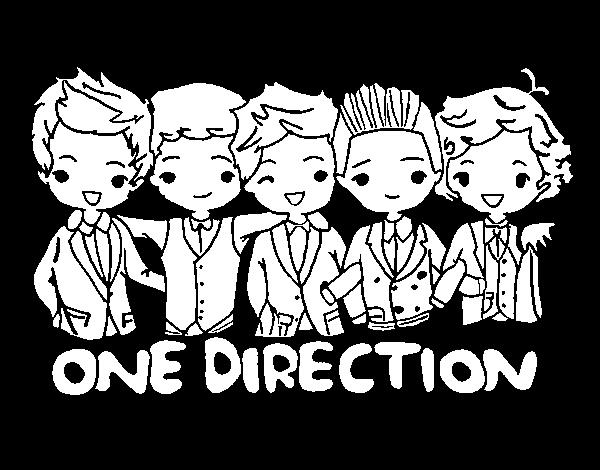 Desenho de One direction para Colorir