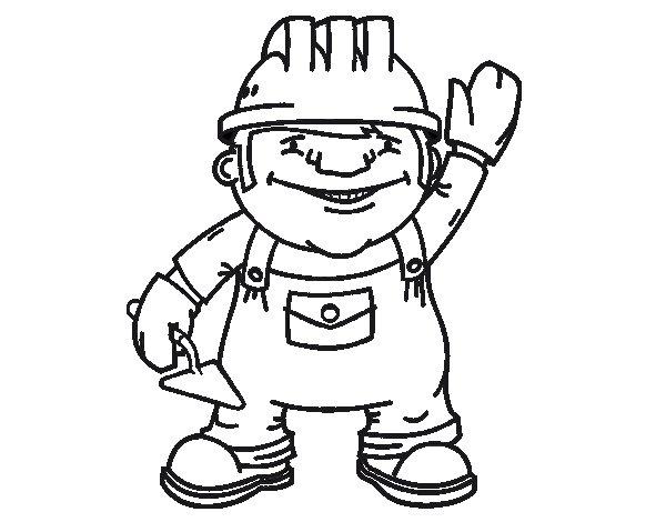 Desenho de Operário de construção para Colorir