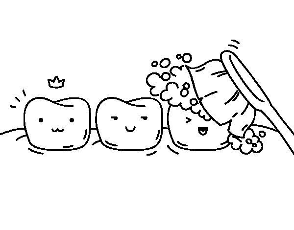 Desenho de Os dentes para Colorir