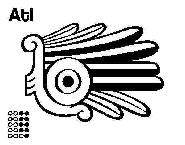 Desenho de Os dias astecas: água Alt para Colorir